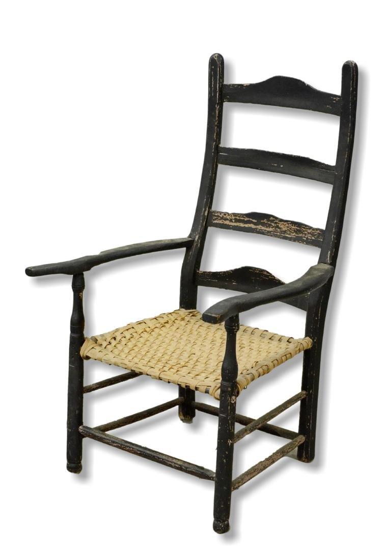 18th c Pennsylvania slatback armchair