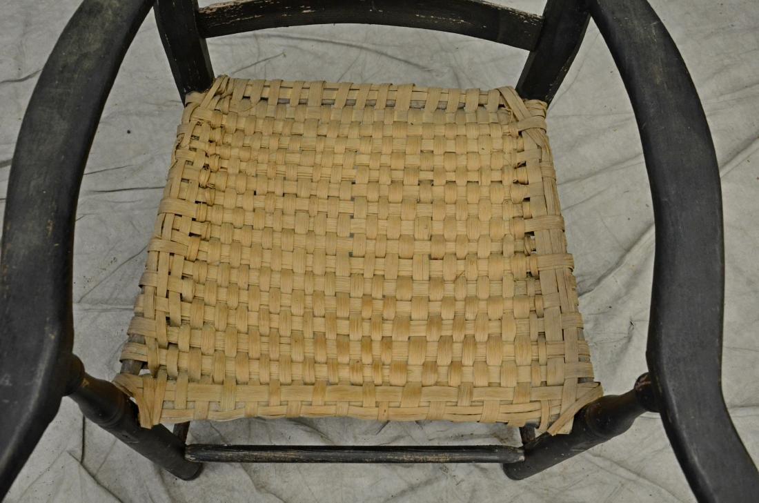 18th c Pennsylvania slatback armchair - 2