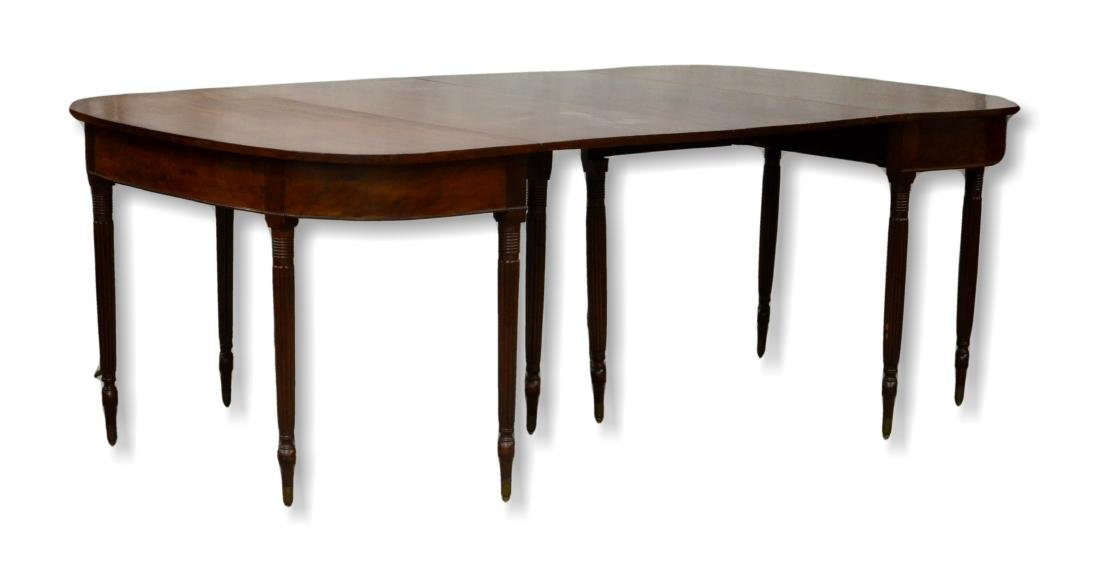 Federal style drop leaf dining table - 2