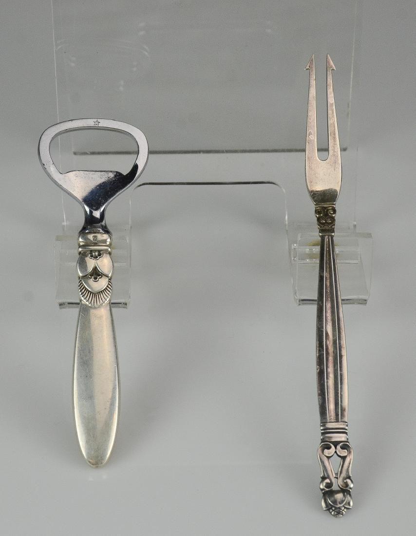 (2) pcs Georg Jensen sterling silver