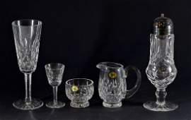 19 pcs Waterford Lismore pattern cut crystal