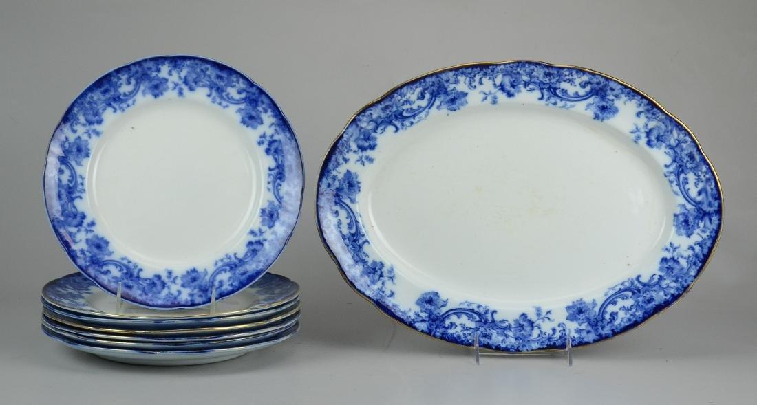 (8) pcs Doulton Burslem Melrose dinnerware