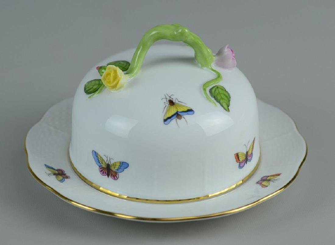 Herend Rothschild Bird pattern butter dish - 2
