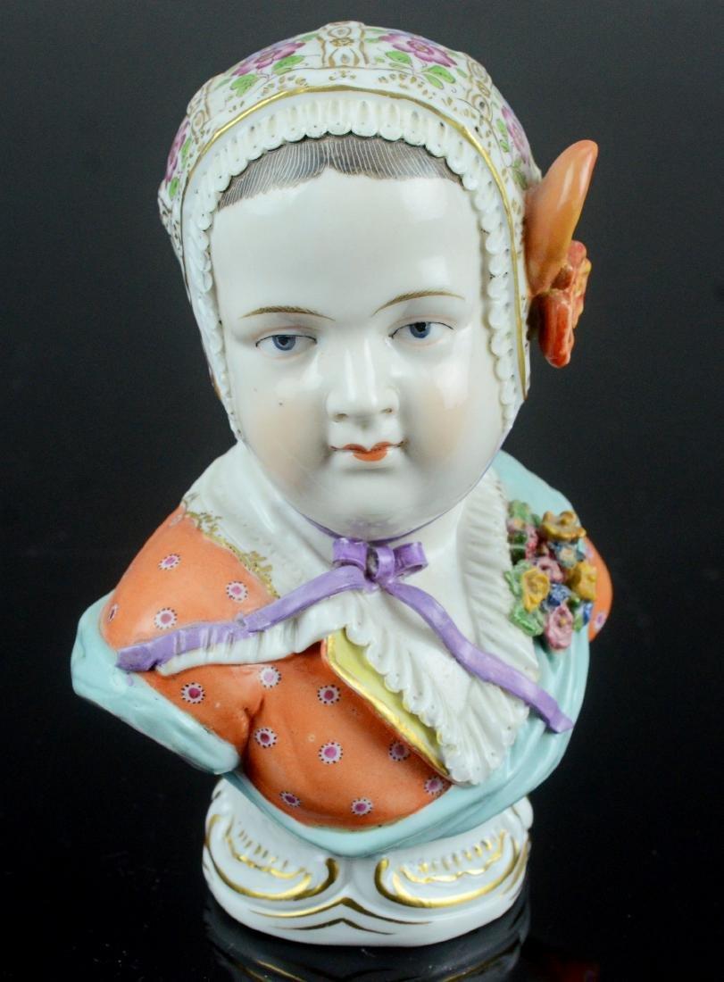 Vienna porcelain bust of Prince de Bourbon