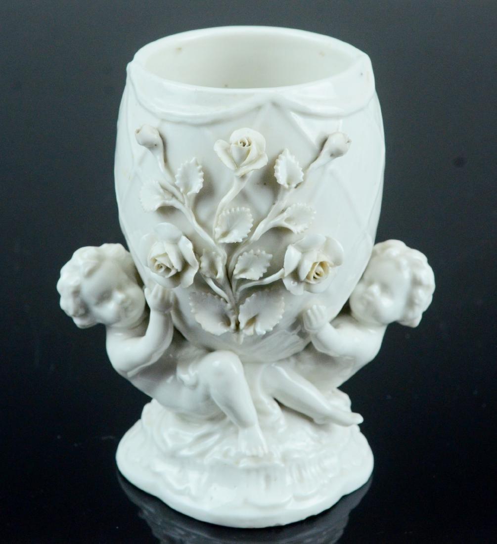 Meissen Augustus Rex blanc de chine porcelain vase