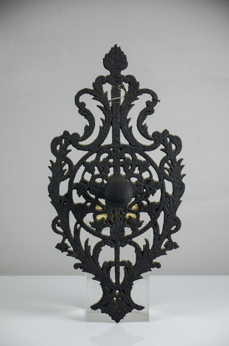 Wrought iron door knob/back plate, Univ of Louvain, WW1