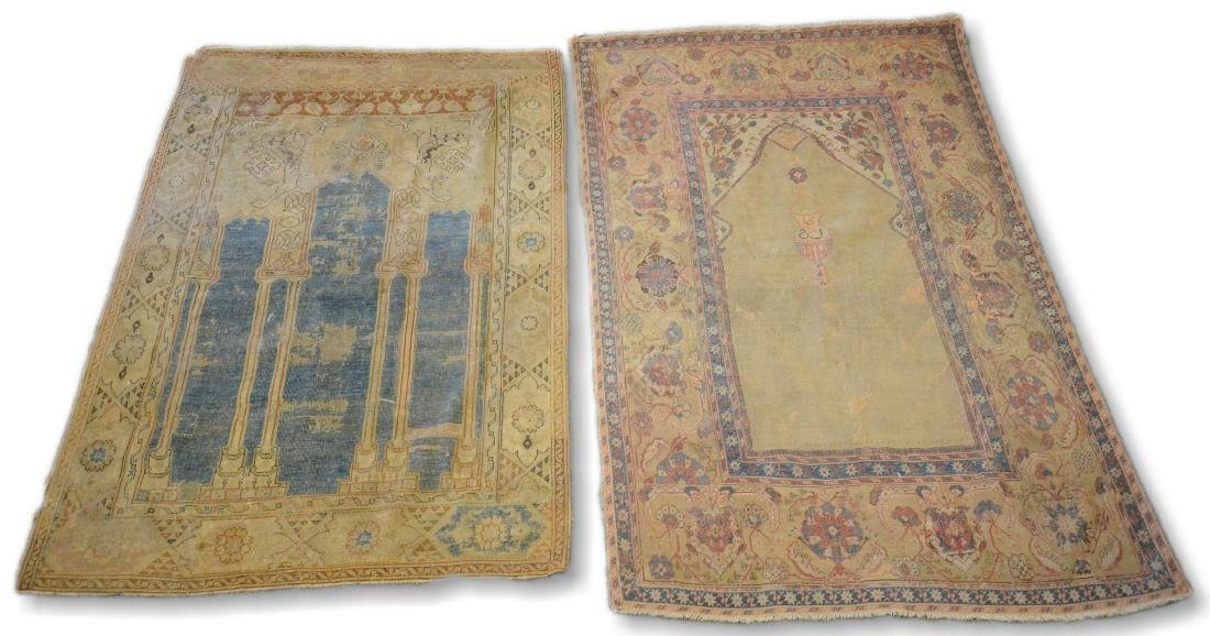 Lot of 2 Turkish Prayer rugs
