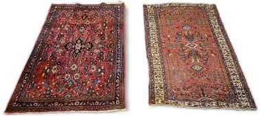 """Lot of 2 Persian Bakhtiari rugs 4'2""""x6'4"""" and 4'4""""x6'6"""""""
