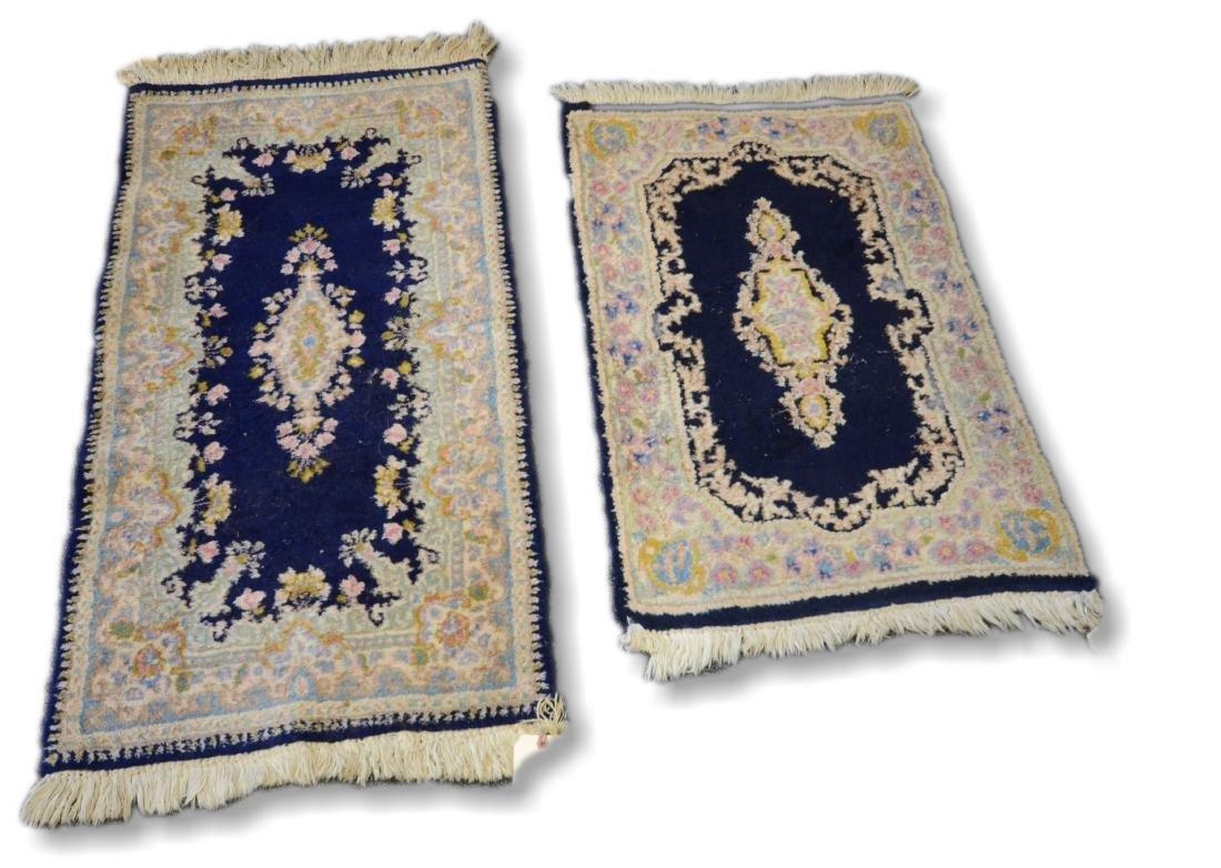 "Lot of 2 Kirman rugs 1'4""x3'0"" and 2'0""x3'11"""