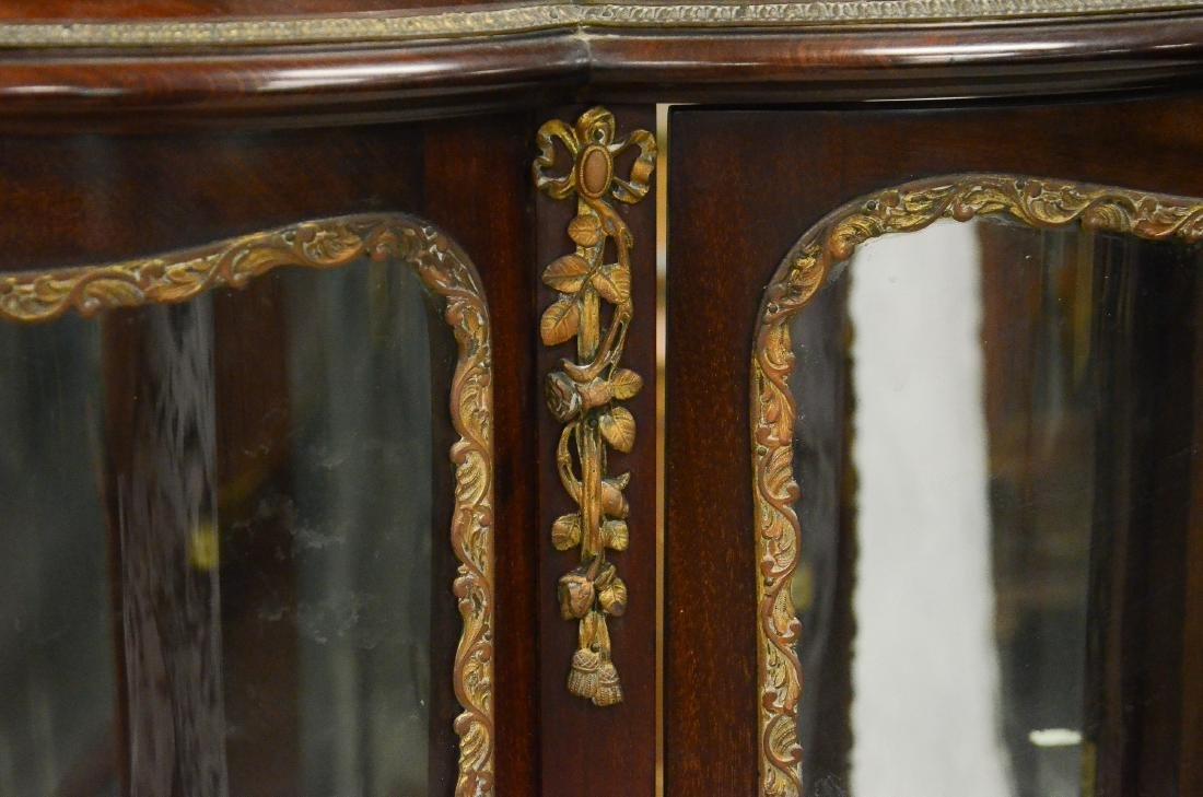 Louis XV style bowed glass display cabinet - 6