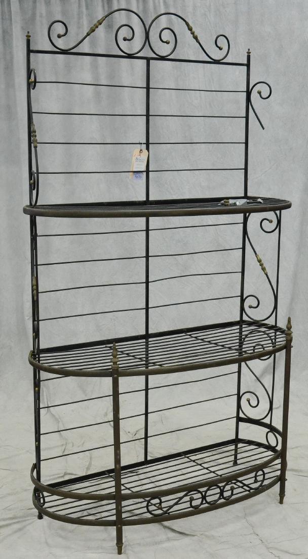 Neoclassical style metal baker's rack