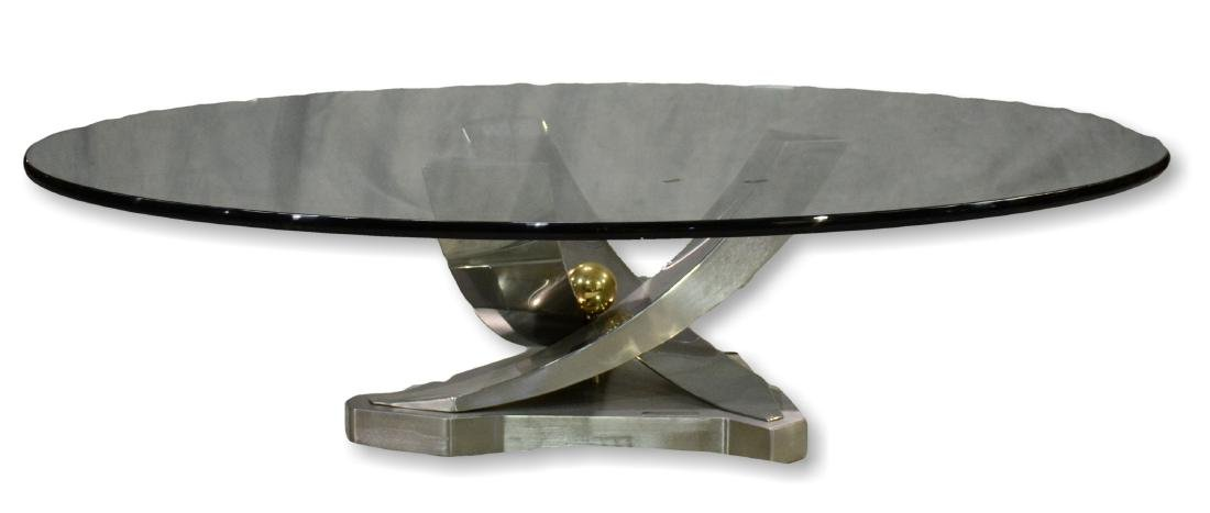 """Greg Sheres sculptural glass top """"Giverny"""" table"""