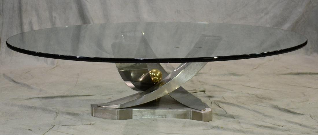 """Greg Sheres sculptural glass top """"Giverny"""" table - 2"""