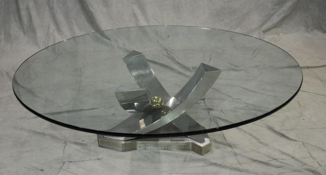 """Greg Sheres sculptural glass top """"Giverny"""" table - 3"""