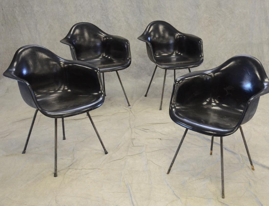 (4) Eames for Herman Miller Dax-1 fiberglass chairs
