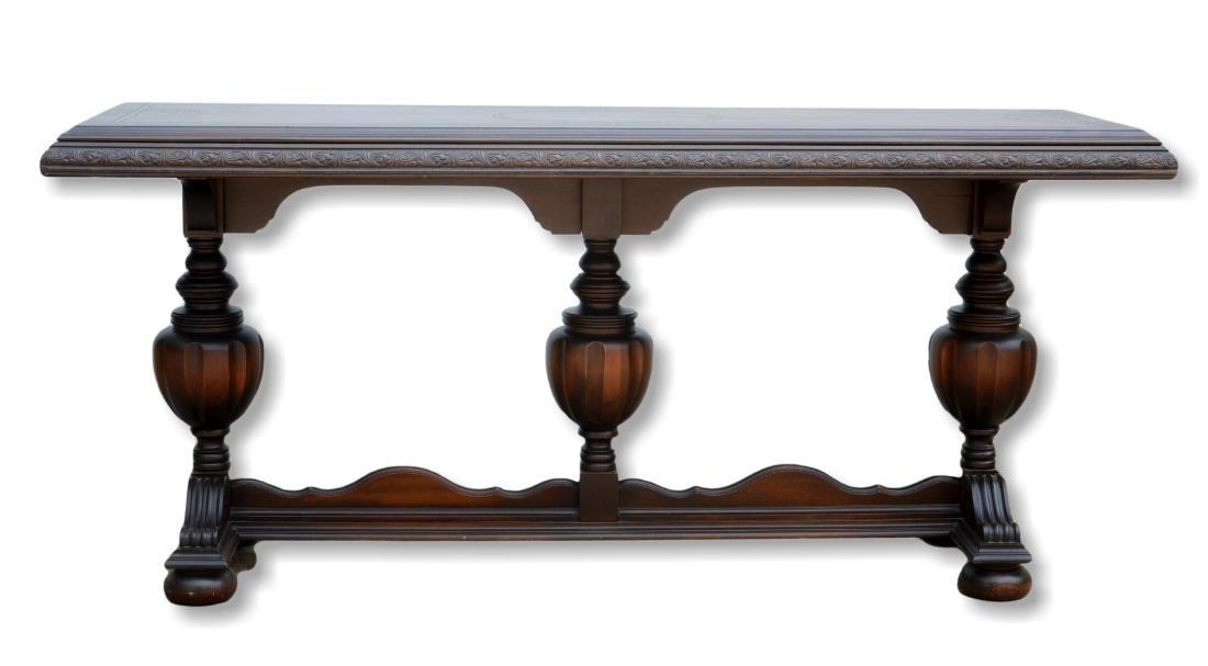 Walnut Jacobean style library table