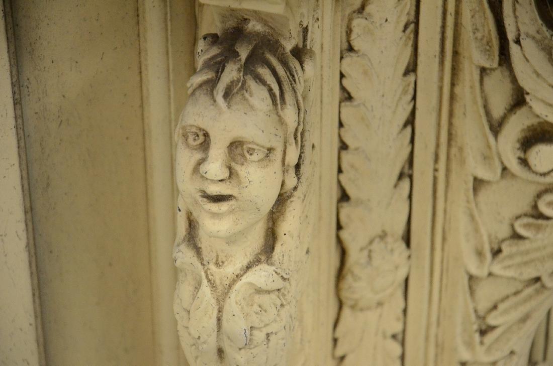 Italian Renaissance Revival ivory painted pier mirror - 2