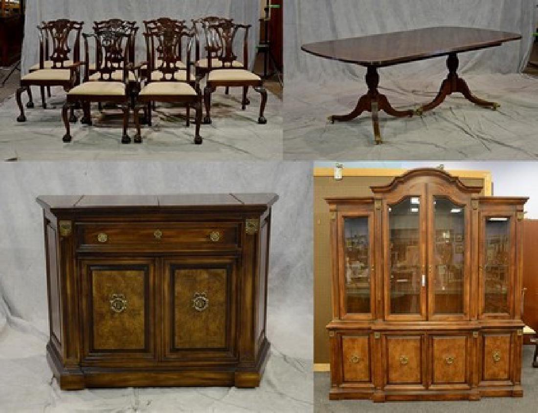 (13) pc Mahogany Hickory Chair Co dining room set