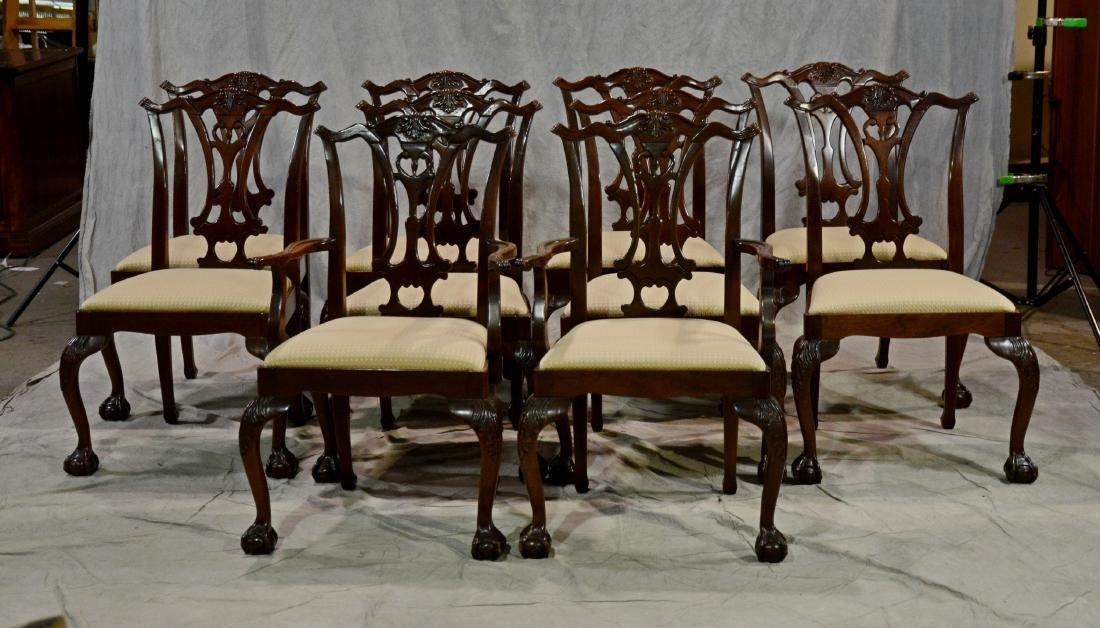 (13) pc Mahogany Hickory Chair Co dining room set - 2