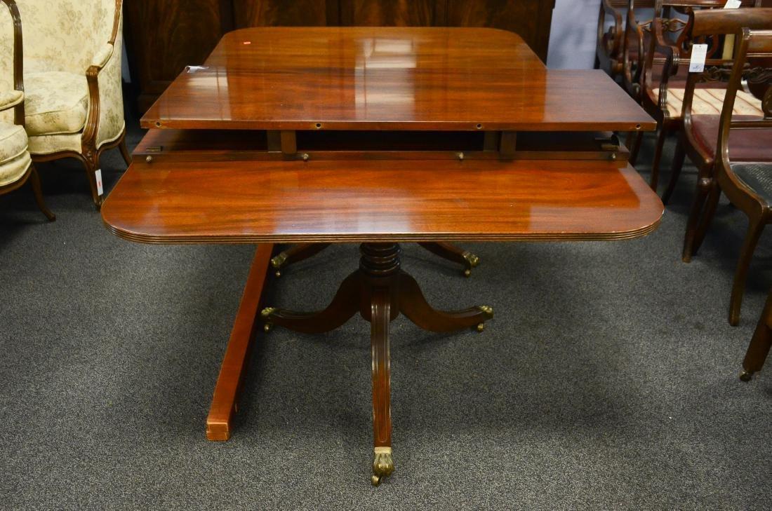 Kittinger mahogany double pedestal dining room table