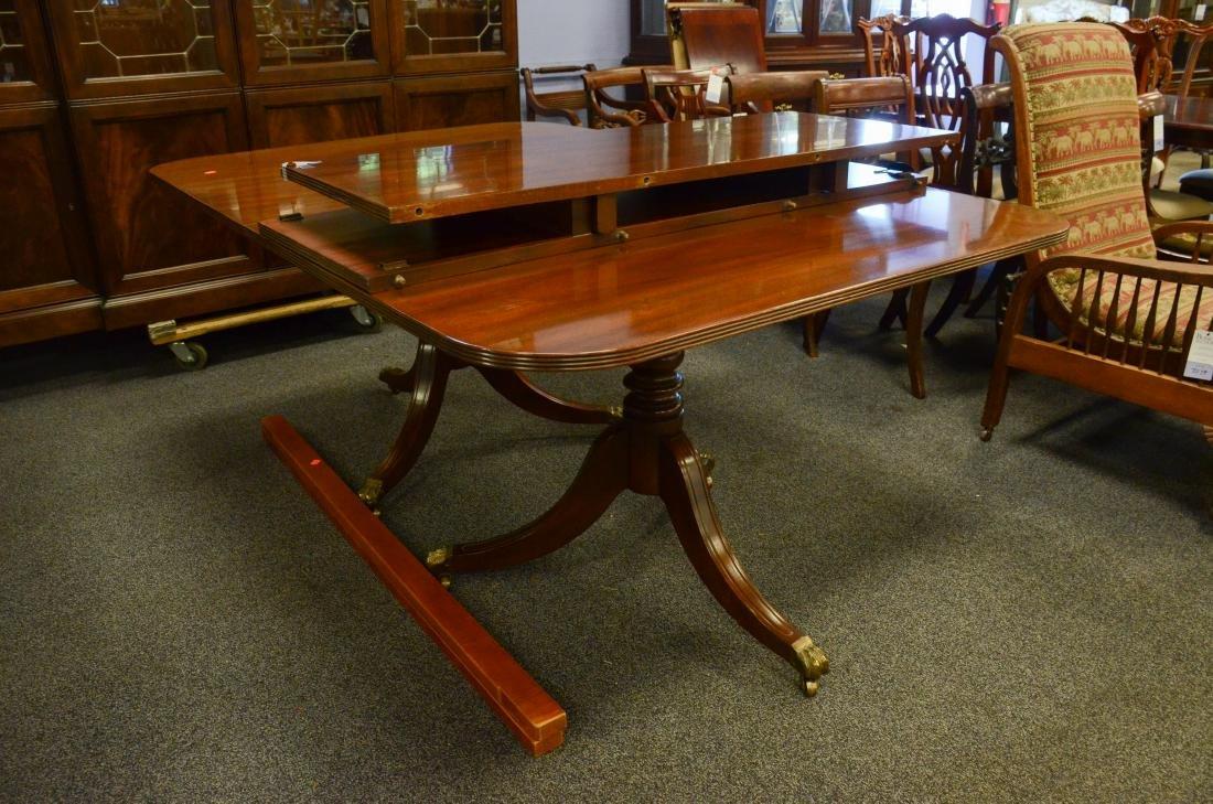 Kittinger mahogany double pedestal dining room table - 2