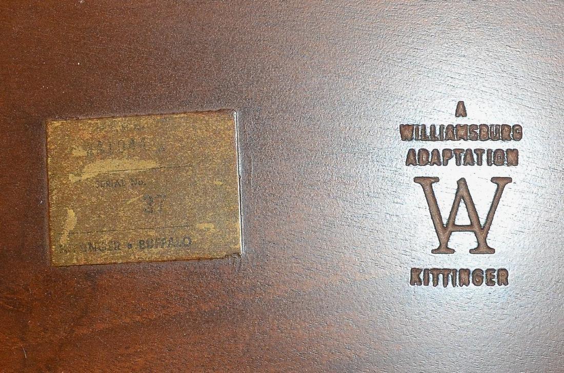 Kittinger mahogany double pedestal dining room table - 3
