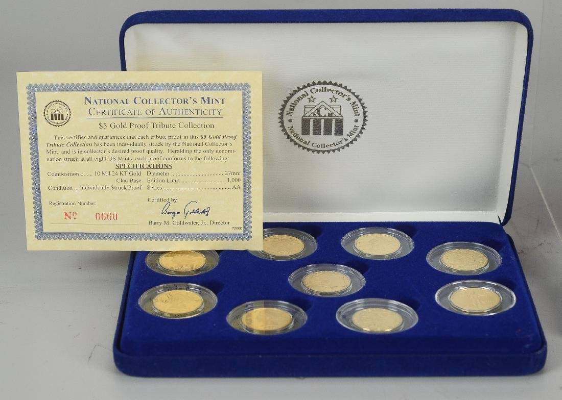 (11) National Collector's Mint $5 Gold Proofs - 2