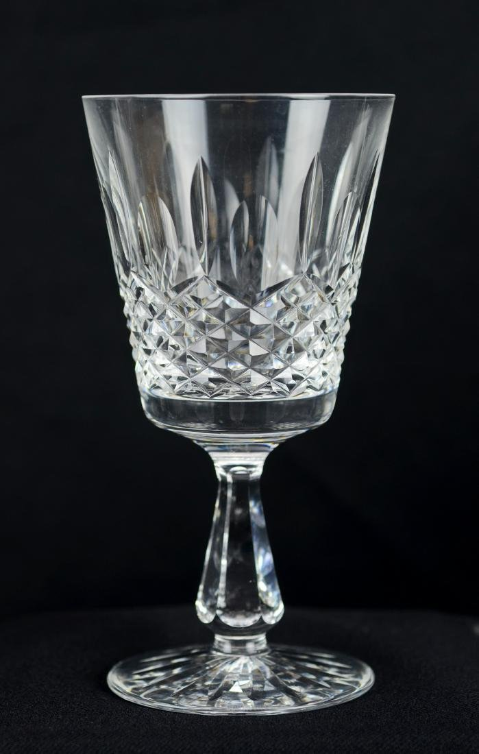(6) Waterford Kenmare cut crystal water goblets - 2