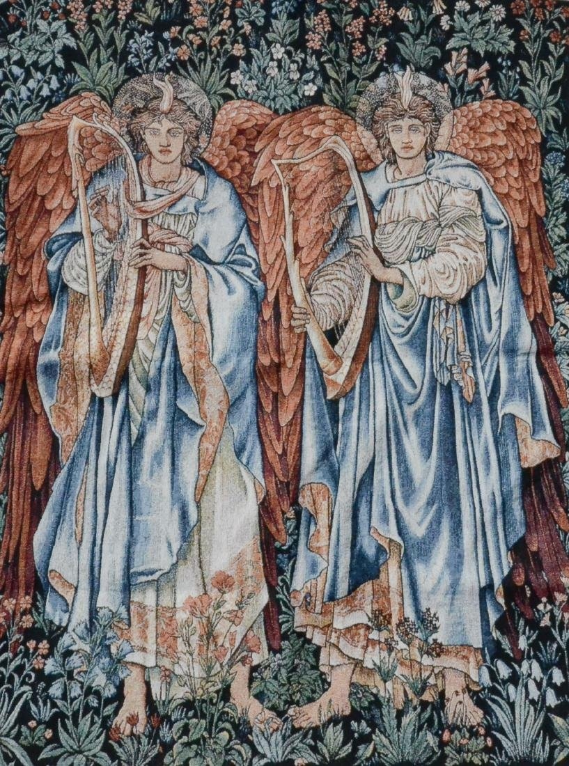 Machine woven tapestry depicting musical angels - 2