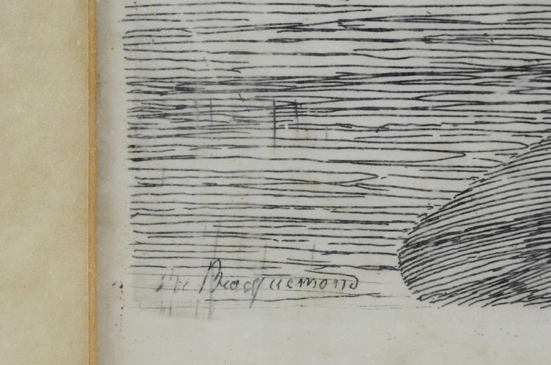 """Felix Bracquemond, etching """"Ebats des Canards"""" - 4"""