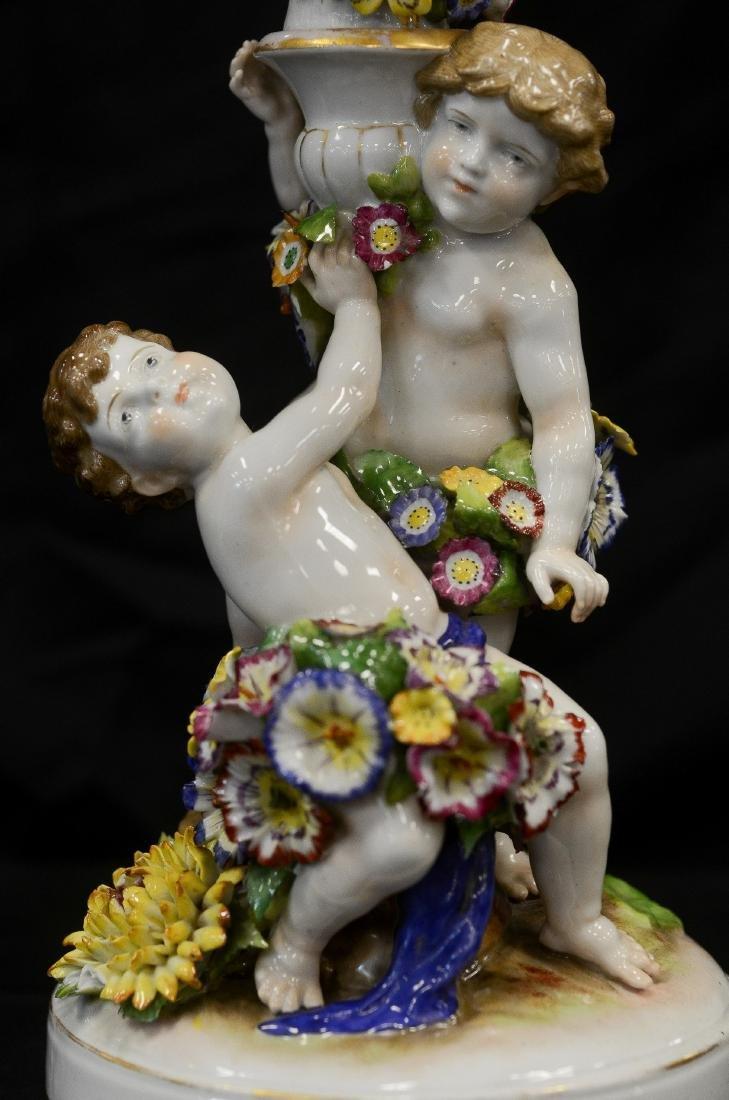 Pr Schierholz porcelain 2-part figural candelabra - 2