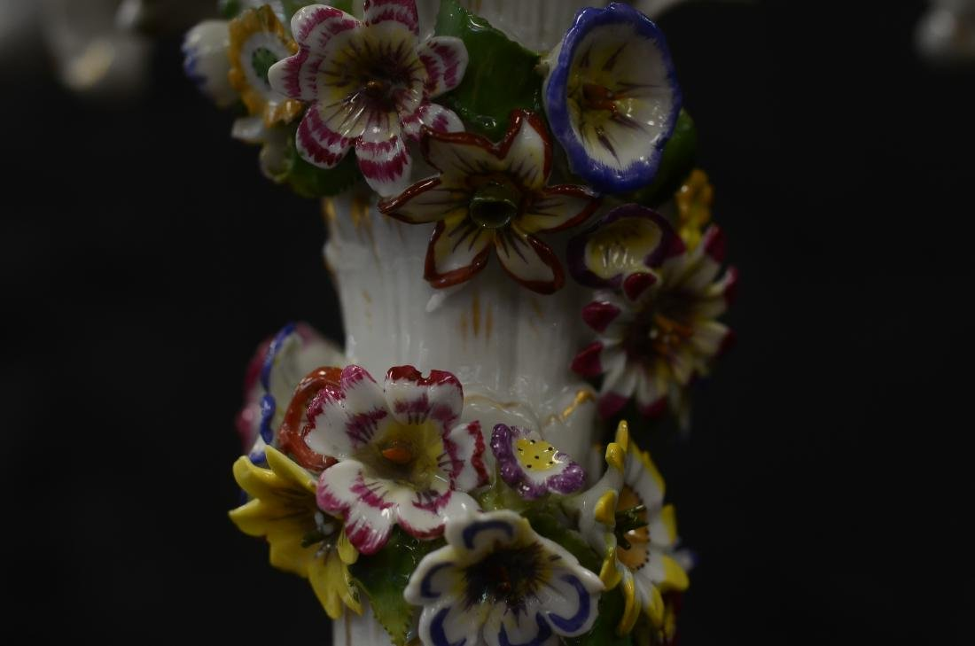 Pr Schierholz porcelain 2-part figural candelabra - 4