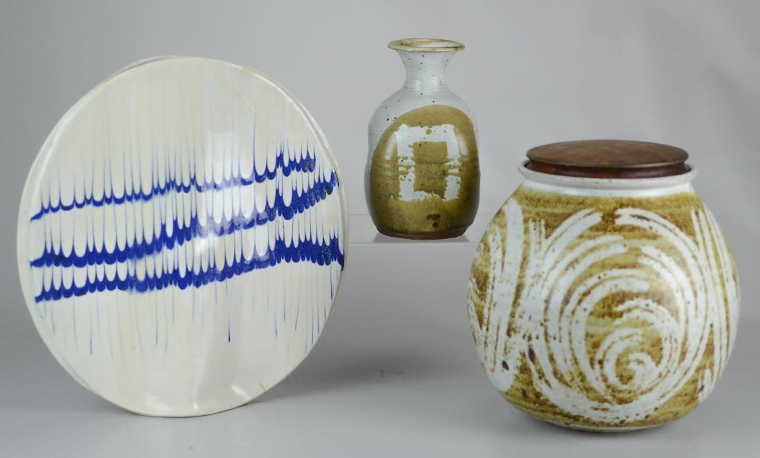 (3) Pcs Art Pottery