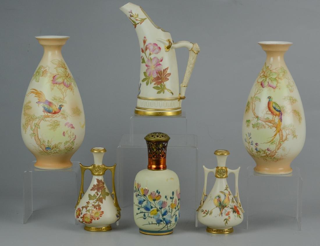(6) pcs porcelain