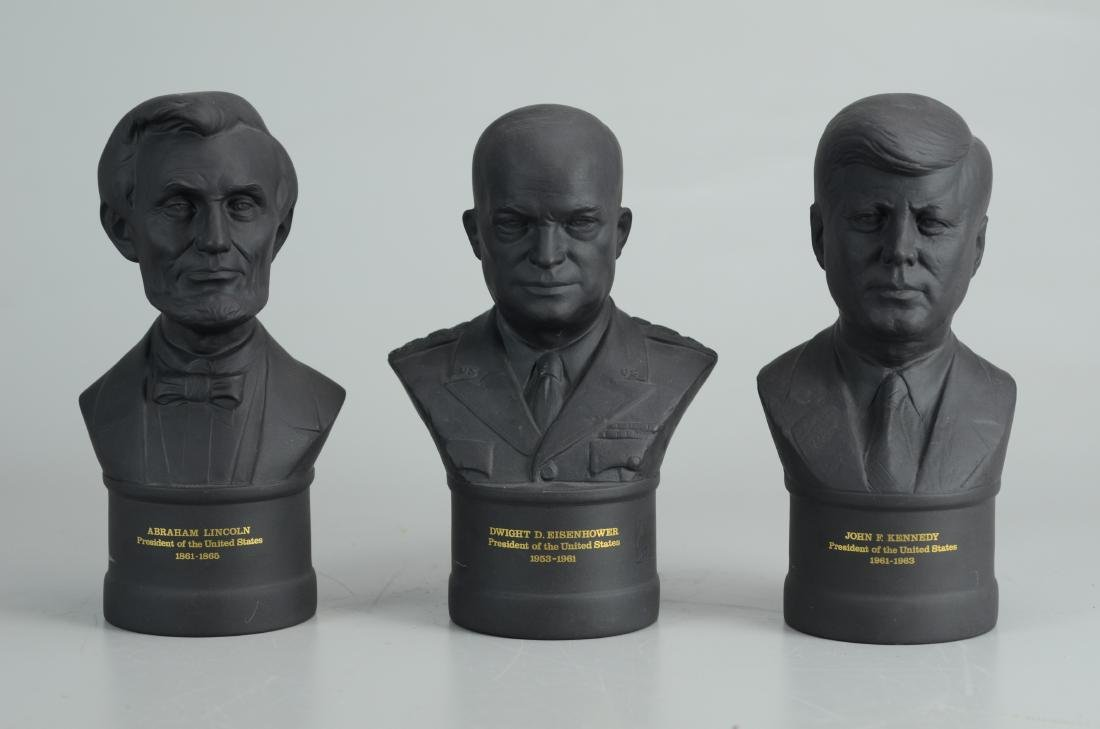 (3) Wedgwood black basalt presidential busts