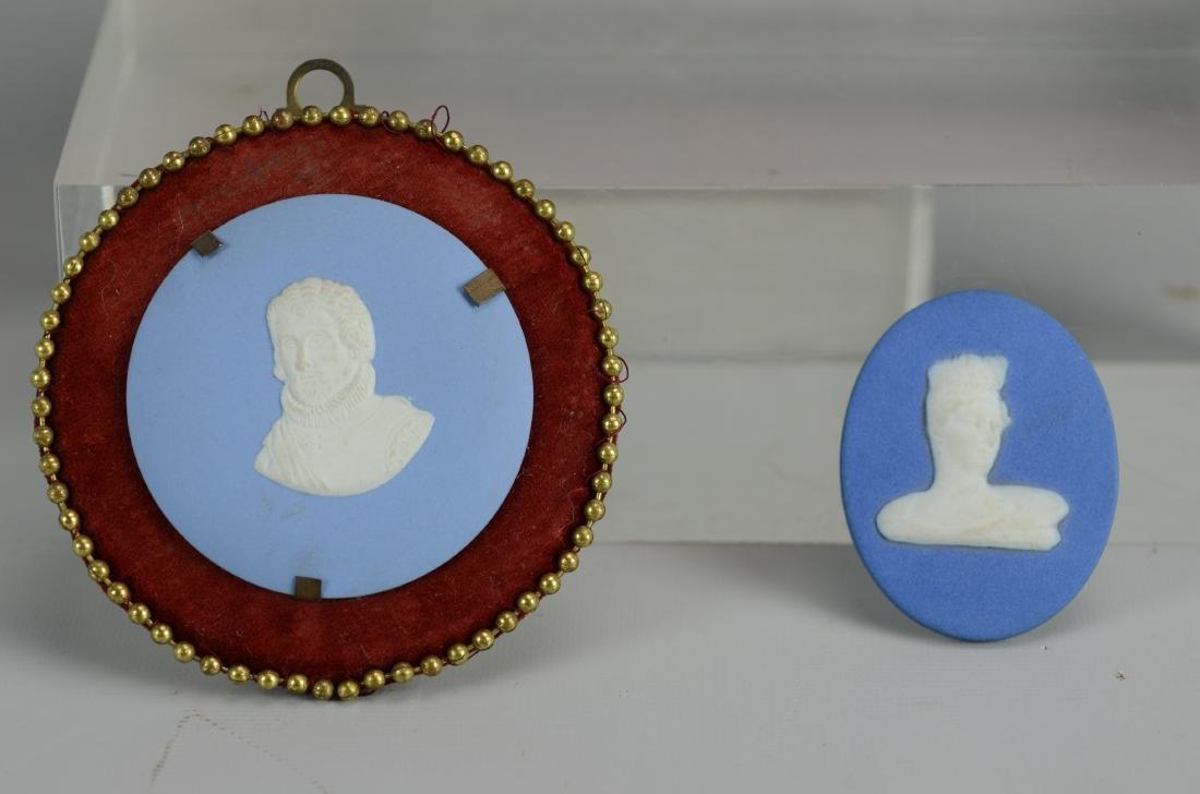 5 Blue Jasperware plaques - 4