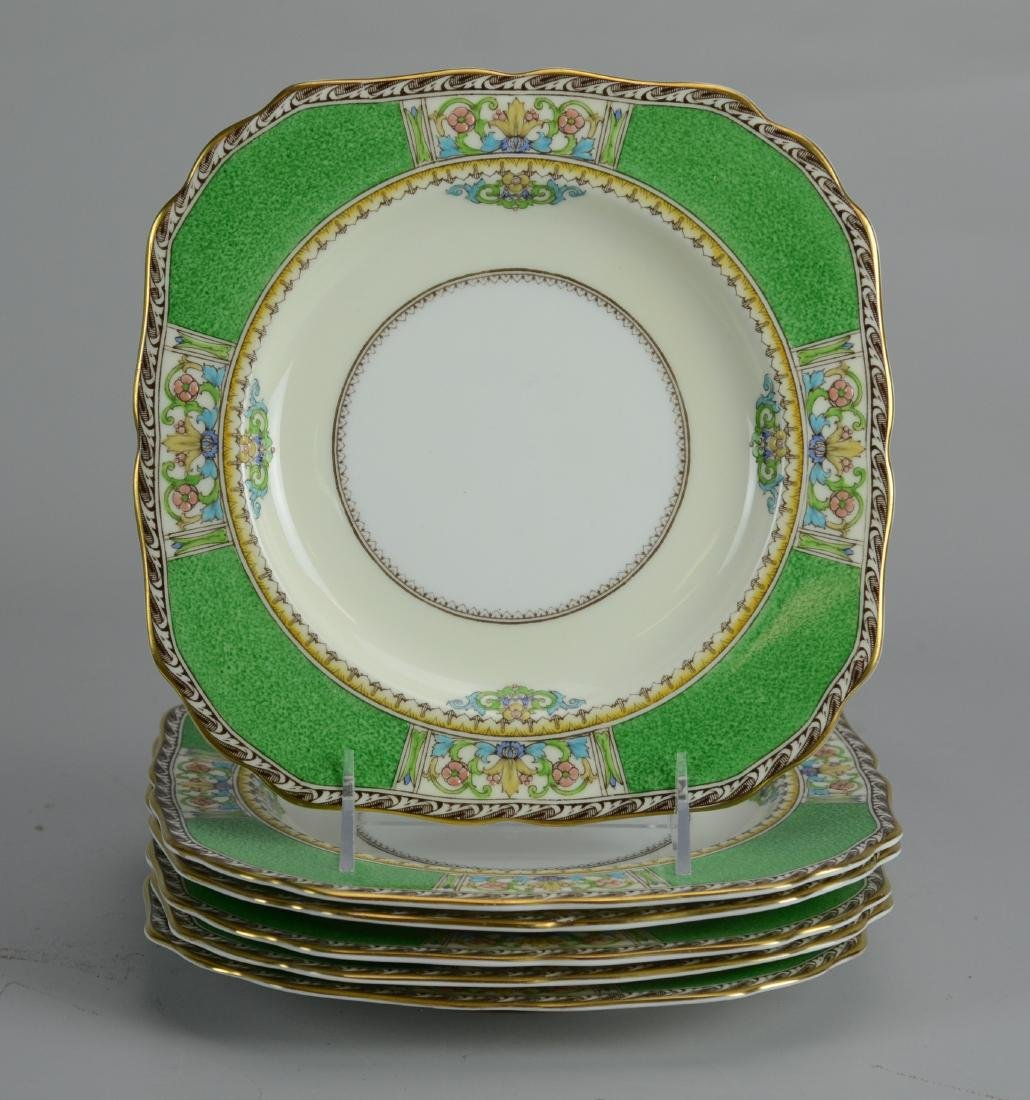 (6) Mintons Countess pattern square salad plates