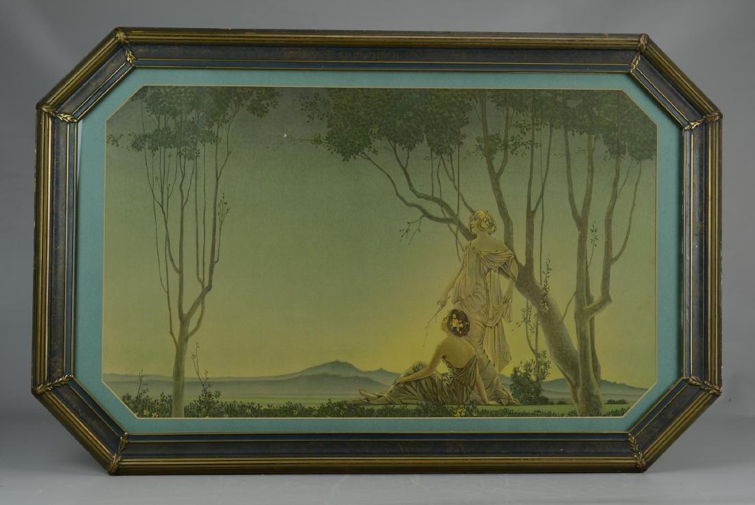 Art Deco period print in original custom frame