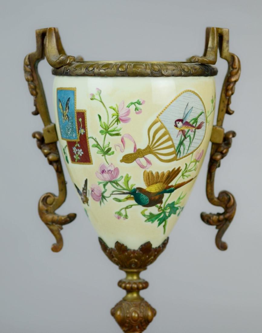 Pr Continental aesthetic porcelain vases - 3