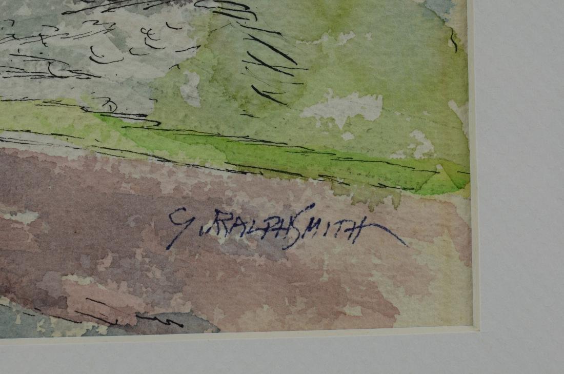 "G Ralph Smith, watercolor, ""Pastoral Landscape"" - 3"