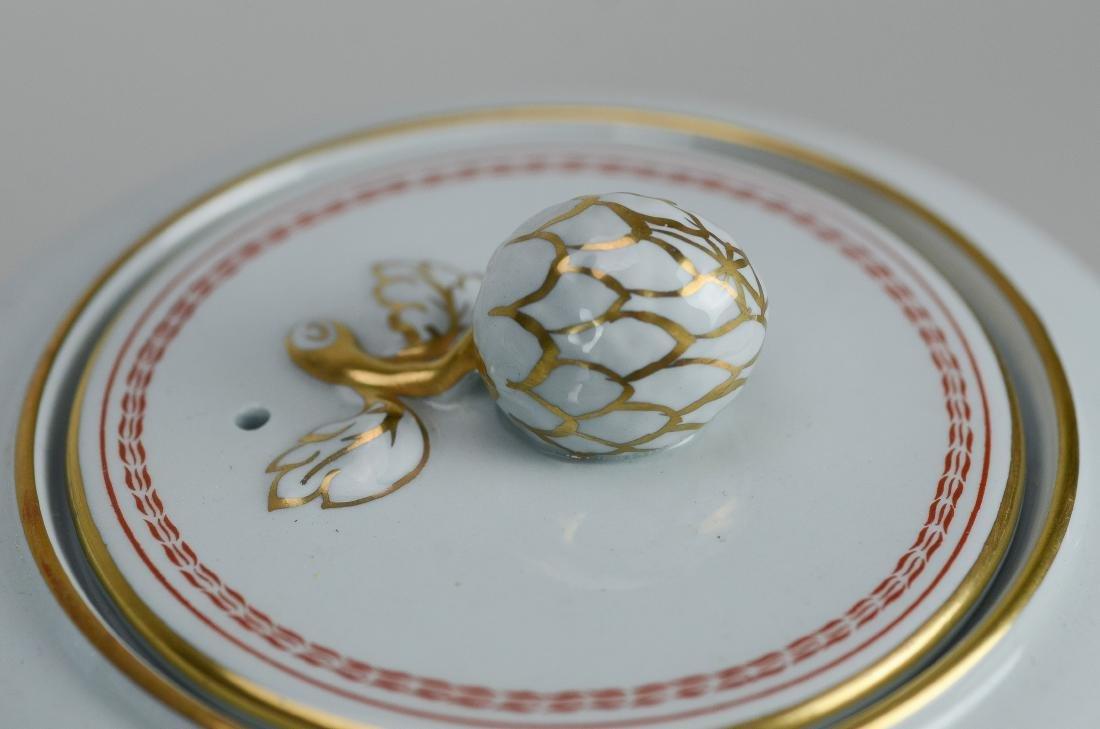 (4) pcs Spode Red Trade Winds porcelain - 4