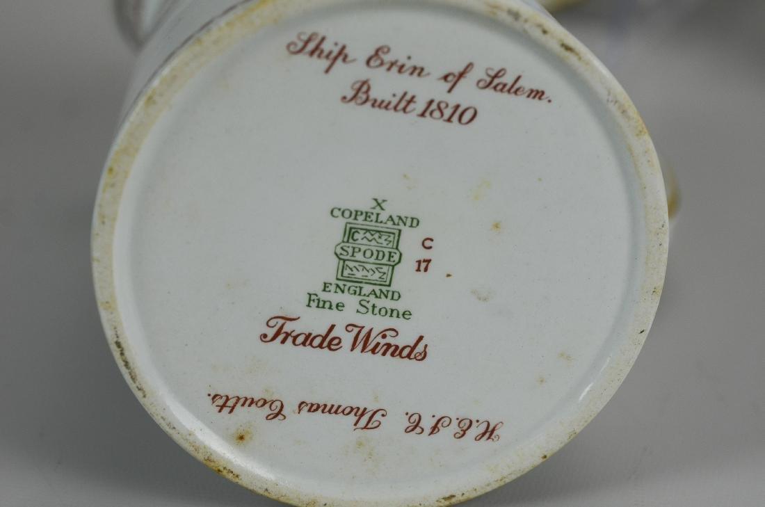 (4) pcs Spode Red Trade Winds porcelain - 5