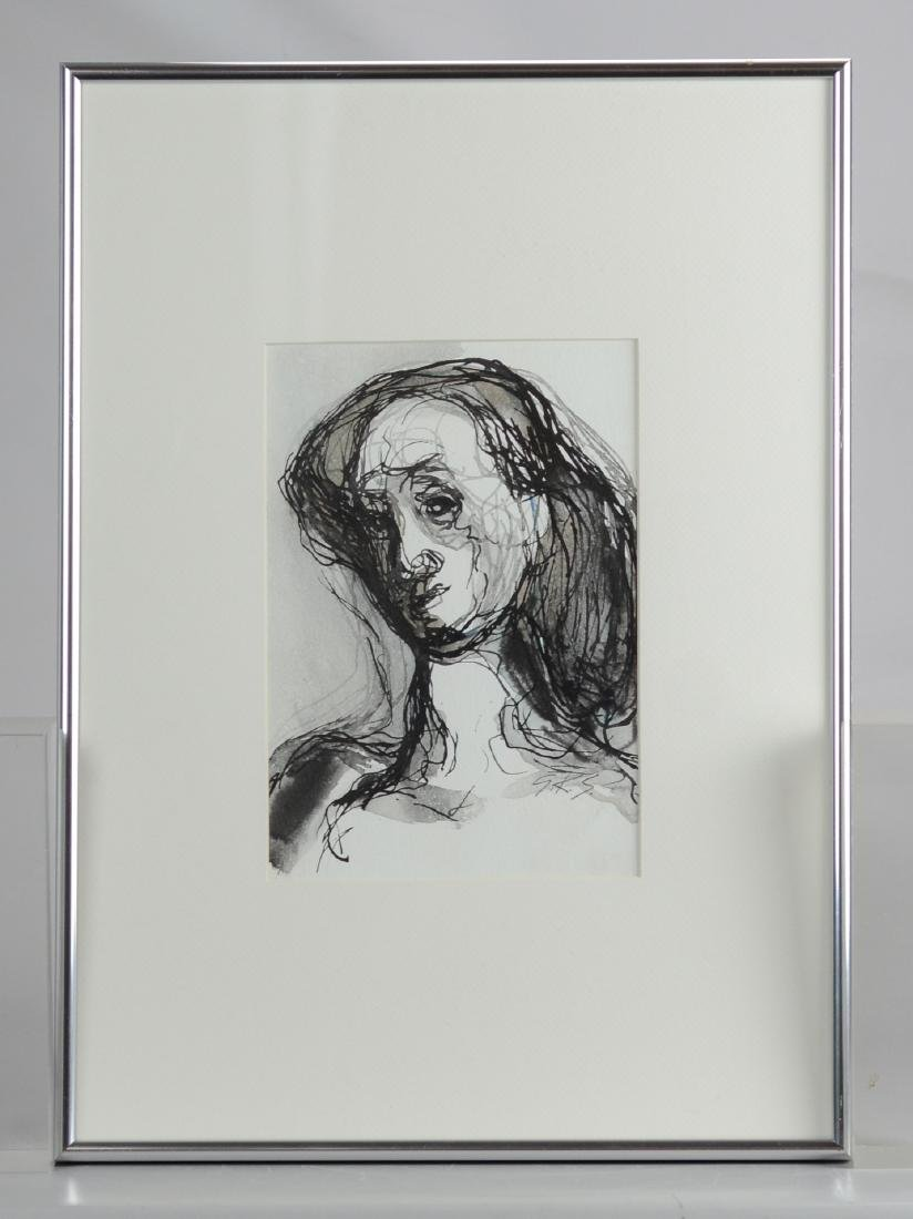 G Ralph Smith, mixed media portrait, Black and White - 2
