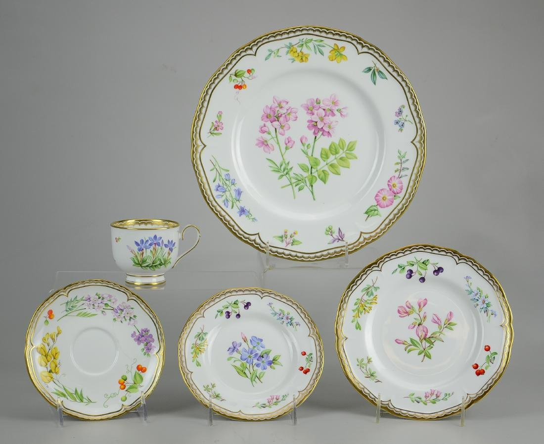 (2) Royal Worcester 5-piece place settings