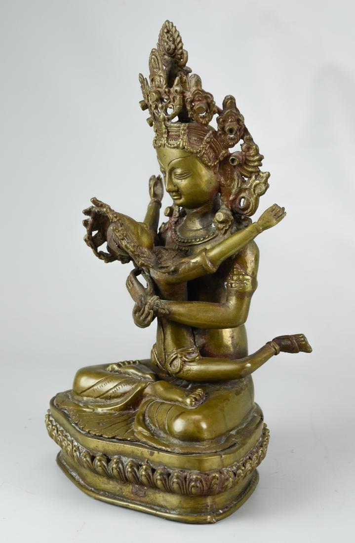 Tibetan bronze figure