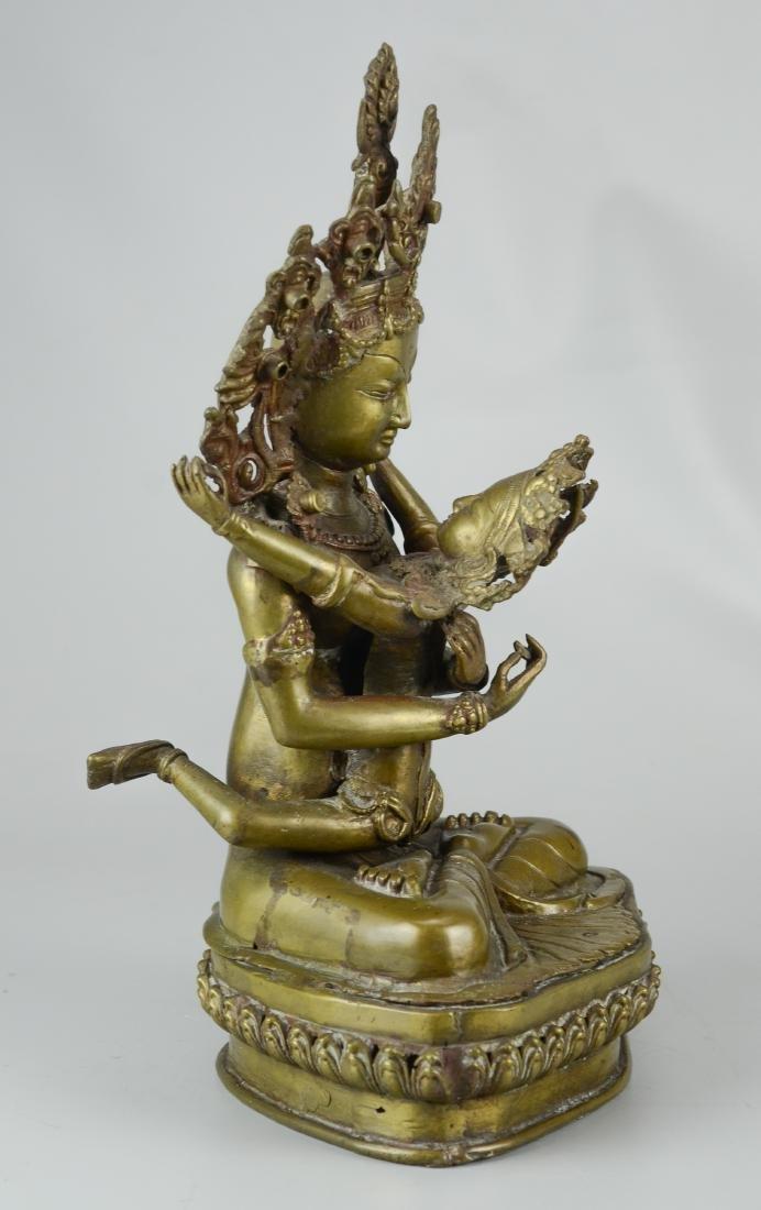 Tibetan bronze figure - 3