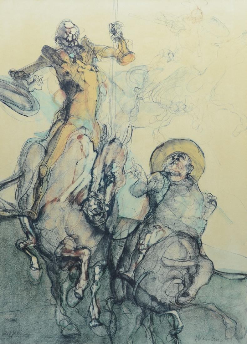 Claude Weisbuch lithograph, Don Quixote