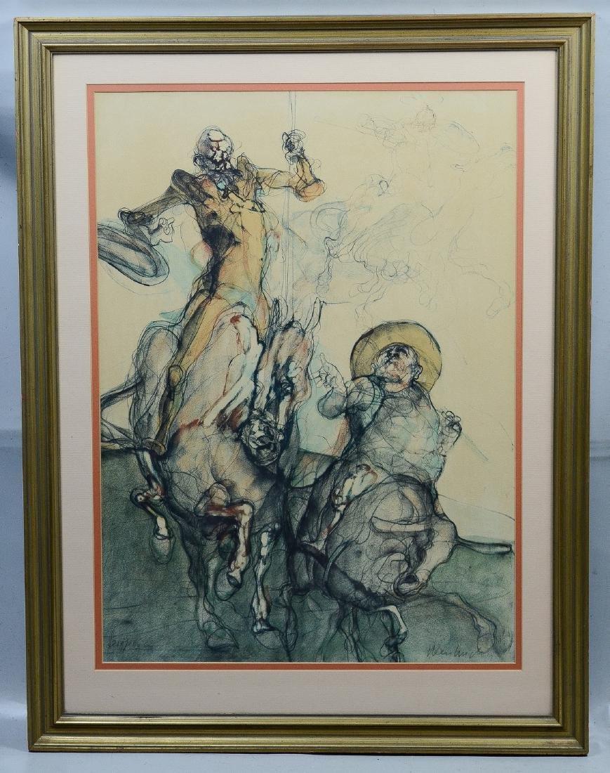 Claude Weisbuch lithograph, Don Quixote - 2