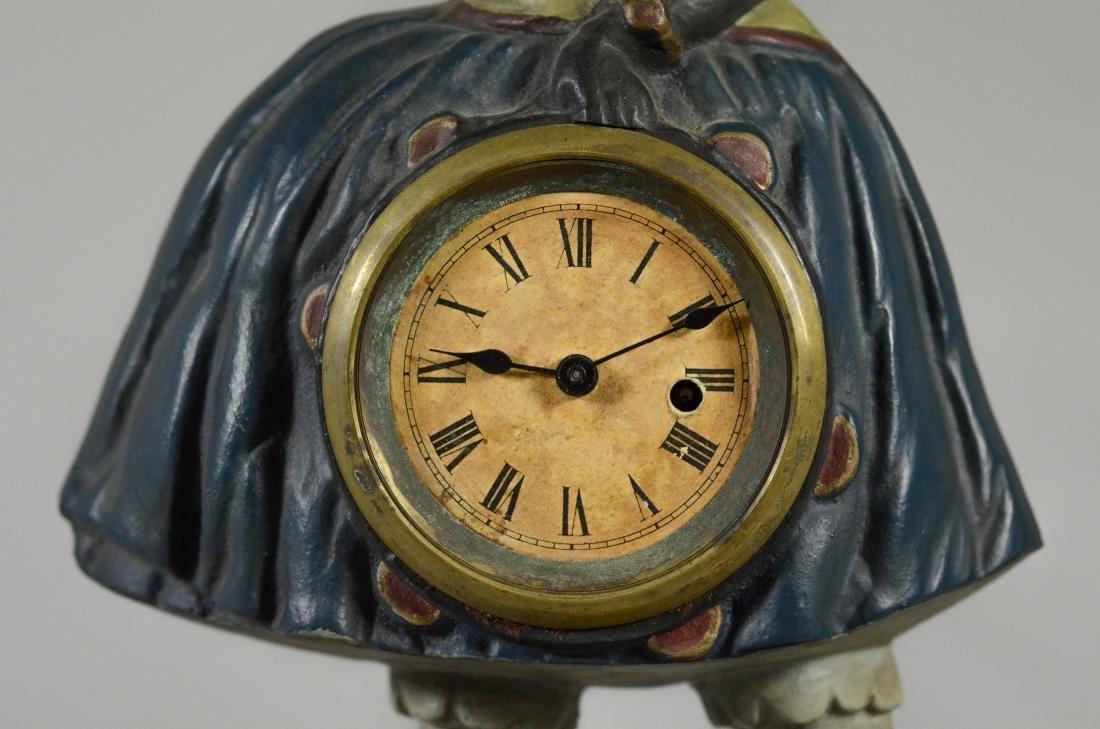 """Cast iron Topsy """"Blinking Eye"""" Clock, c 1875-85 - 2"""