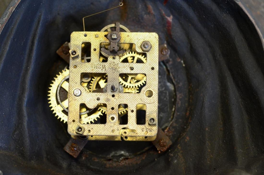 """Cast iron Topsy """"Blinking Eye"""" Clock, c 1875-85 - 5"""